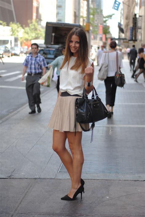 zina ch zara skirt leather skirt lookbook