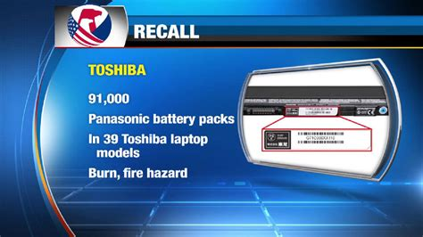 toshiba recalls laptop battery packs