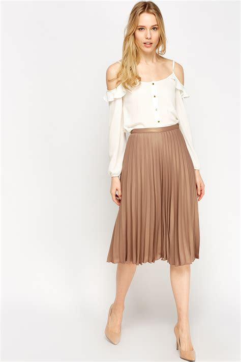Metallic Pleated Midi Skirt pleated metallic midi skirt just 163 5