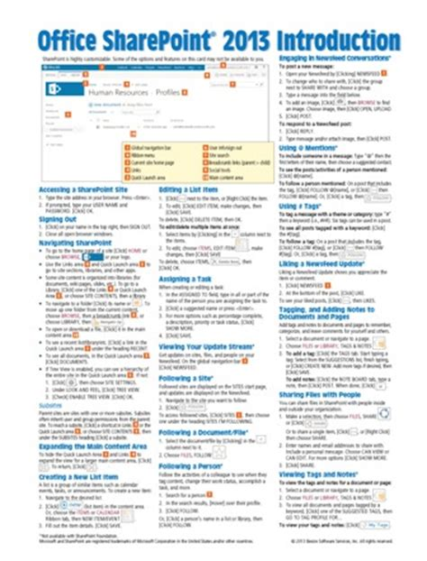 visio 2013 user guide sharepoint 2013 reference sheet guide card