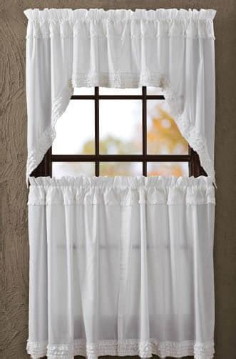 swag sheer curtains white ruffled sheer window curtain swag