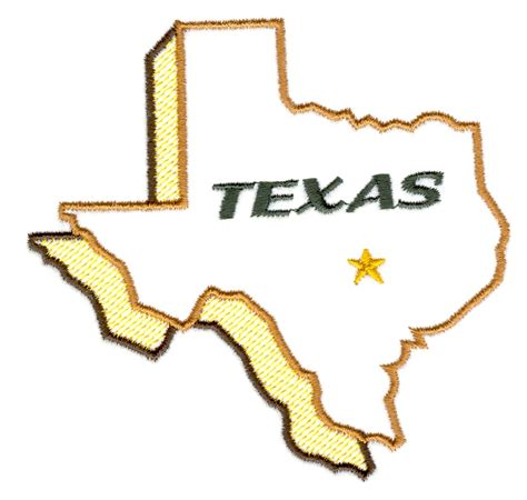 embroidery design ltd outline of the state of texas cliparts co