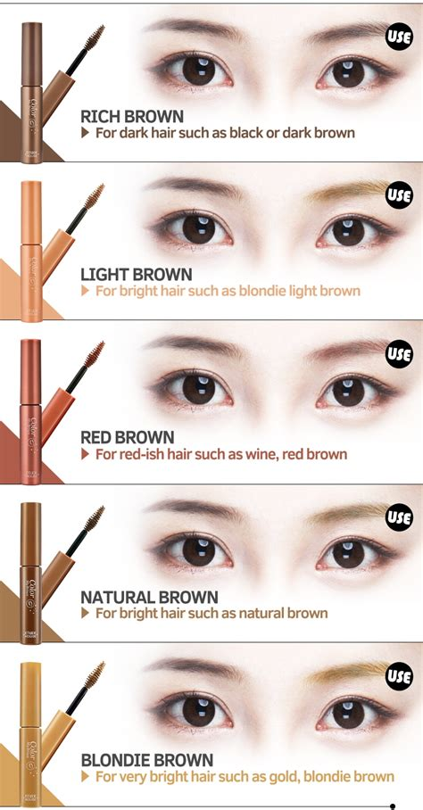 eyebrow color eyebrow colors images eye makeup ideas for blue