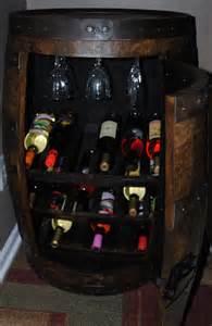 Wine Barrel Liquor Cabinet Whiskey Barrel Wine Rack Cabinet By Barrelworx On Etsy