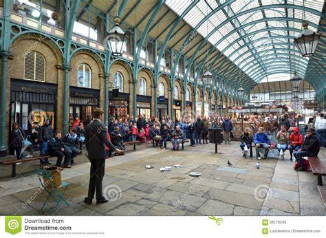 Covent Garden Exhibition Spectators Show In Covent Garden In