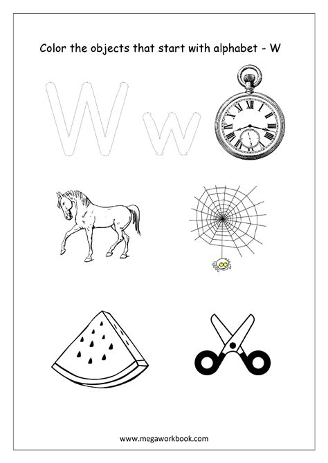 color starting with a objects start with letter a sketch coloring page