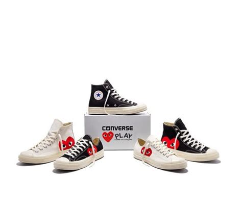 1 78 Ct Black Berlian wood wood cdg play x converse chuck 70s