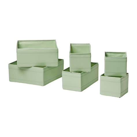 skubb ikea skubb box set of 6 light green ikea