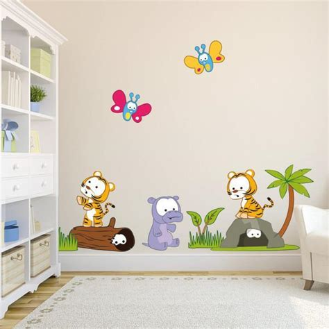character wall stickers baby jungle new characters wall stickers vinyl impression