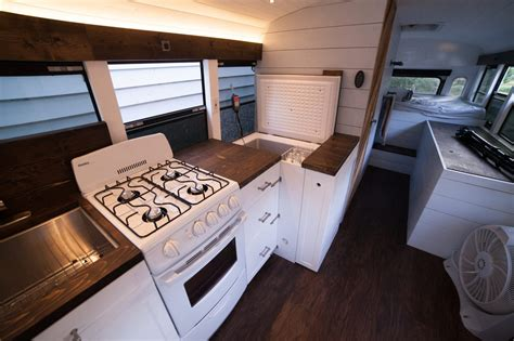 skoolie conversion solar powered school bus home makes a modern mobile home