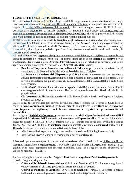 mercato mobiliare contratti mercato mobiliare appunti di diritto