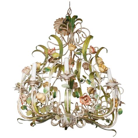 Vintage Italian Floral Chandelier For Sale At 1stdibs Vintage Flower Chandelier