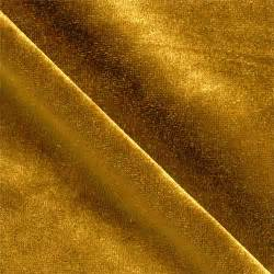 stretch velvet knit dark gold discount designer fabric