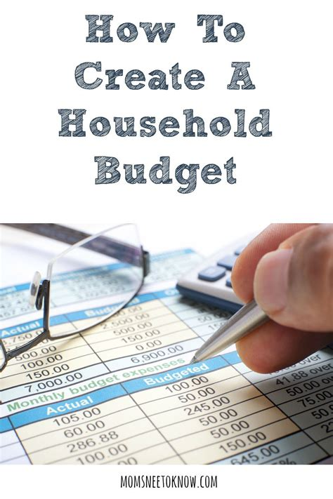 create  household budget ways  save money