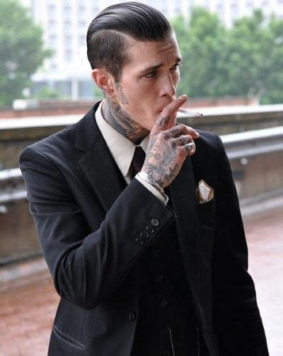 suits and tattoos neck tattoos suit him washed and sent to my tent