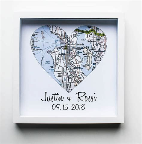 Wedding Gift Map by Wedding Gifts For Couples Map Print Framed Unique Wedding