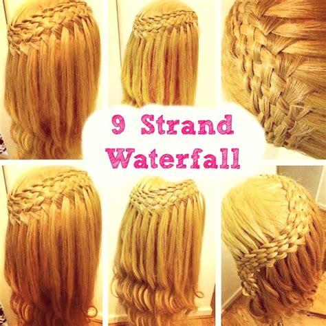 written instructions for 5 strand dutch braid how to 9 strand waterfall braid braidsandstyles12 youtube