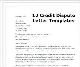 dispute credit report letter best business template