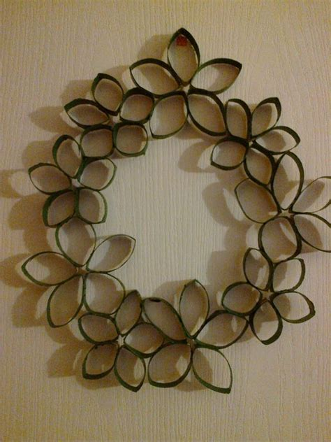 Toilet Paper Roll Crafts Wall - wall wreath toilet paper roll tp