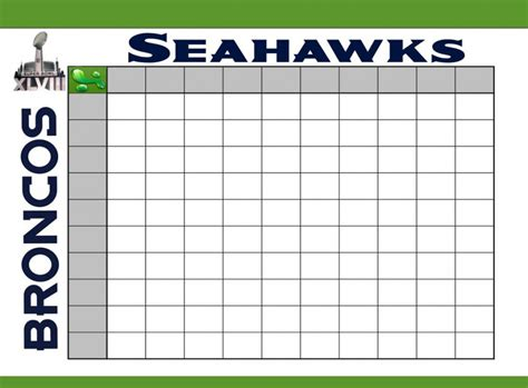 football board template bowl squares template