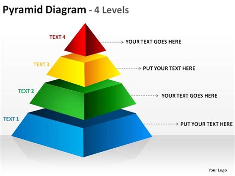 Rectangular Pyramid Diagram 4 Levels Ppt Slides Diagrams Powerpoint Pyramid
