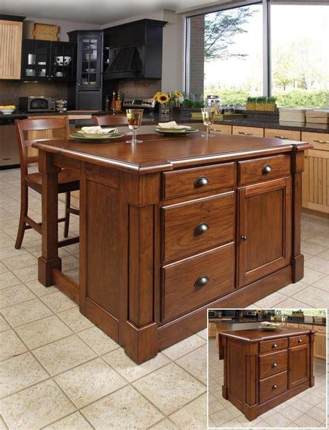 aspen kitchen island home styles aspen rustic kitchen island set rustic