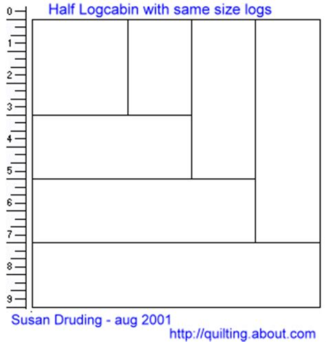 Half Log Cabin Quilt Pattern by Half Log Cabin Quilt Blocks In 2 Styles Free Quilt Pattern