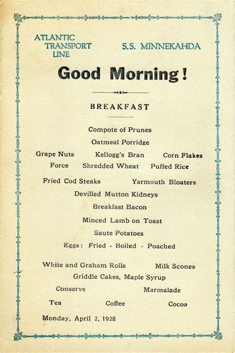 cover layout of american breakfast 17 best images about vintage menus on pinterest