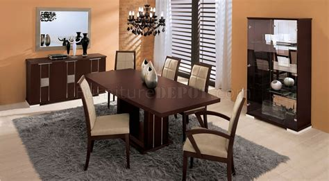 Chocolate Brown Dining Room by Chocolate Brown Dining Room With Leather Accents