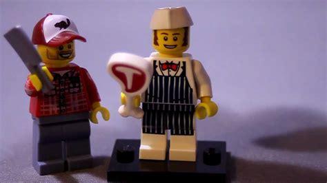 Lego Butcher Cap Lego Aksesoris lego minifigures series 6 butcher review