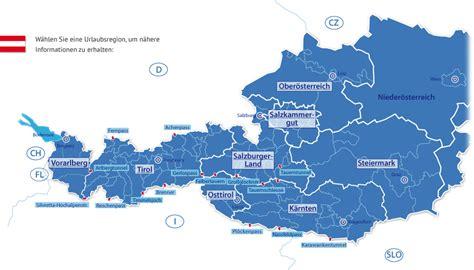 urlaub alpen österreich skigebiete 214 sterreich karte my