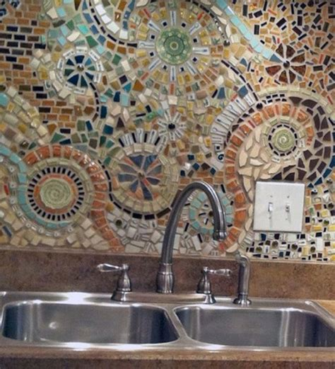 Mosaic Kitchen Backsplash Mesmesrizing Pattern Of Kitchen Backsplash That Decorated With Mosaic Design Ideas At