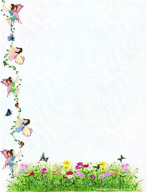 printable nature stationery fairy vine stationery for the free printable size