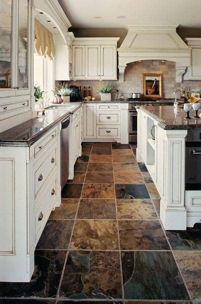 kitchen floor ideas with cabinets 1000 ideas about slate kitchen on slate floor