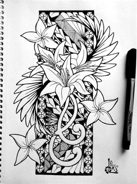 samoan flower tattoo designs