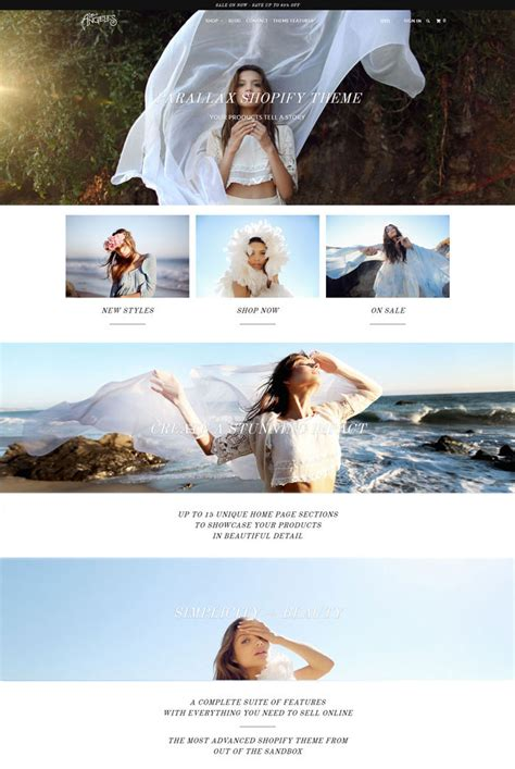 shopify themes parallax ecommerce shopify fashion themes