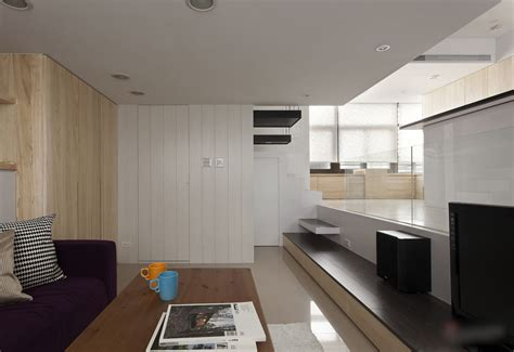 small modern apartments modern small apartment with open plan and loft bedroom