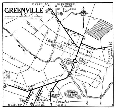 map of greenville carolina south carolina city maps at americanroads