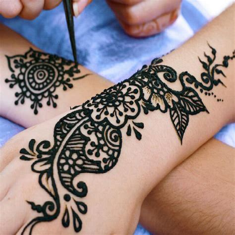 henna tattoo with india ink 12 pcs kit henna black ink brands temporary
