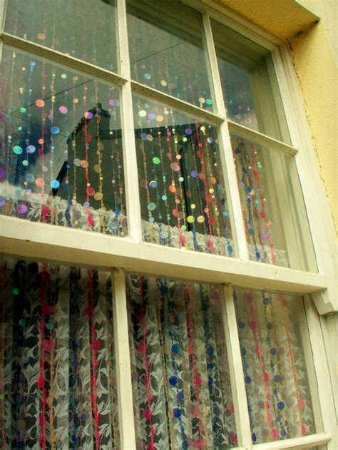 diy bead curtain glittering beads at the window panda s house