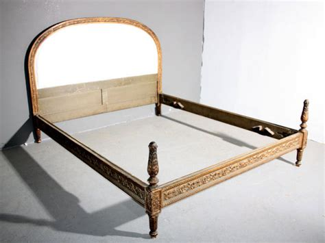 antique queen bed antique french louis xvi painted queen bed gilt j6941 for