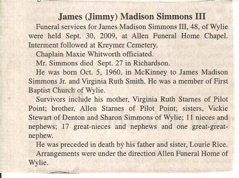 simmons october 5 1960 september 27 2009