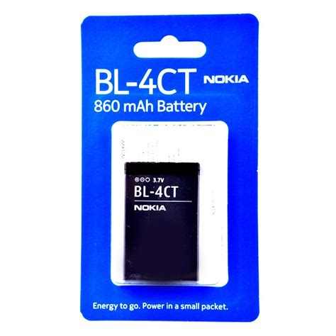 Baterai Battery Bl 4ct Nokia 5310 6700s 7210 Vizz Power Origina original nokia bl 4ct battery 5310 xpressmusic