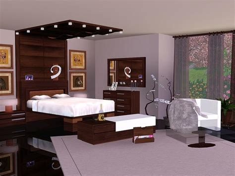 sims bedroom flovv s brown cherry bedroom