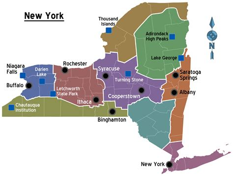 america new york map map of new york overview map regions worldofmaps net