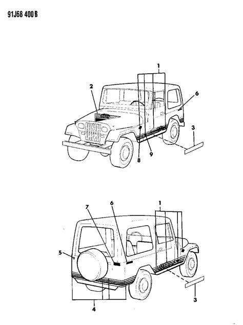 92 Jeep Parts 1992 Jeep Wrangler Decals Bodyside And Rear Islander