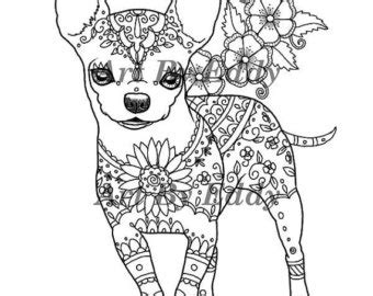 Art of Chihuahua Coloring Book Volume No. 1 Physical Book
