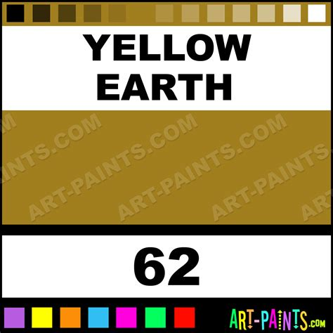 yellow earth studio acrylic paints 62 yellow earth paint yellow earth color pebeo studio