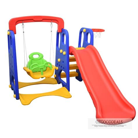toddler slide and swing set 2017 model children kids toddler slide swing basketball