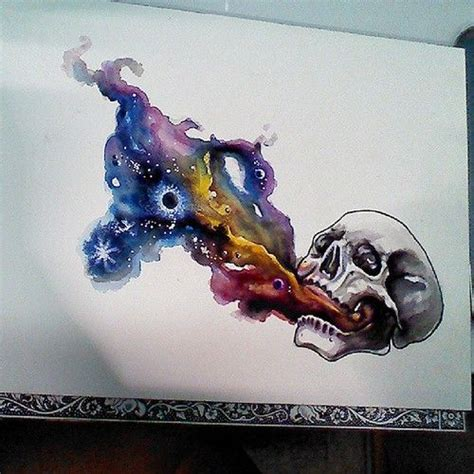 watercolor tattoo galaxy watercolor skull planet designs